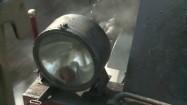 Reflektor lokomotywy parowej