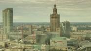 Panorama Warszawy w pochmurny dzień