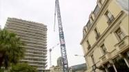 Hotel de Paris Monte-Carlo - dźwig z tyłu hotelu