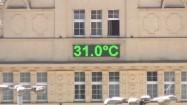 Temperatura 31 stopni - wyświetlacz na budynku