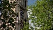 Wieża zegarowa ratusza w Wiedniu