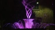 Podświetlona fontanna
