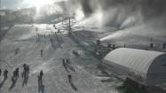 Naśnieżanie stoku narciarskiego