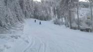 Stok narciarski zimą