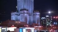 Podświetlony Pałac Kultury i Nauki