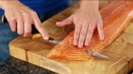 Filetowanie łososia