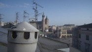 Dachy budynków na Rynku Głównym w Krakowie