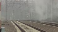 Tory kolejowe i wiadukt