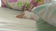 Dłoń dziecka w opatrunku