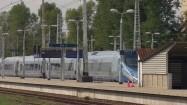 Pendolino odjeżdżające ze stacji