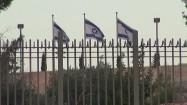 Flagi Izraela na wietrze
