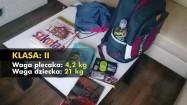 Wyposażenie szklonego plecaka i jego waga