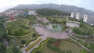 Chiny - park w mieście