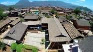 Chińska prowincja - dachy domów