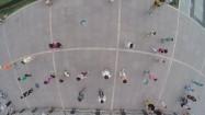 Chiny - ludzie ćwiczący w parku