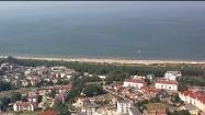 Tłumy na plaży nad Bałtykiem