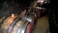 Beczki z winem w winnicy