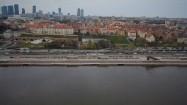 Panorama Warszawy i Wisłostrada