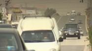 Samochody na trasie w Albanii