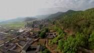 Zabudowania u podnóża Himalajów