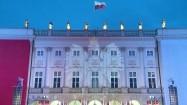 Iluminacja Orła Białego na Pałacu Prezydenckim