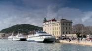 Port katamaranów w Splicie w Chorwacji