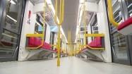 Wnętrze pociągu metra