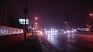 Miasto nocą - samochody