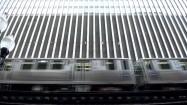 Pociąg szybkiej kolei miejskiej w Chicago