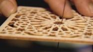 Wytwarzanie ażurowej drewnianej płytki