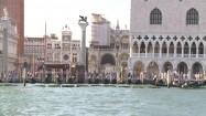 Piazzetta San Marco i przystań dla gondoli w Wenecji