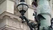 Zabytkowa latarnia w Wiedniu