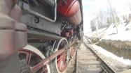 Koła lokomotywy parowej