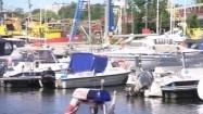 Zacumowane jachty