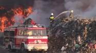 Gaszenie pożaru wysypiska śmieci