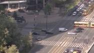 Skrzyżowanie ulic Jana Pawła II i Grzybowskiej w Warszawie