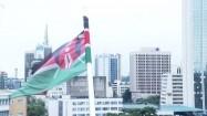 Powiewająca flaga Kenii