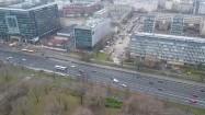 Biurowiec Focus i aleja Armii Ludowej w Warszawie