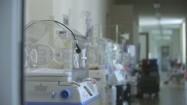 Inkubatory na szpitalnym korytarzu