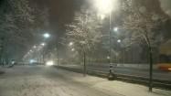 Aleje Ujazdowskie w Warszawie zimą