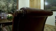 Krzesło ze skórzanym obiciem