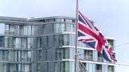 Powiewająca na wietrze flaga Wielkiej Brytanii