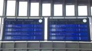 Tablice przyjazdów i odjazdów pociągów