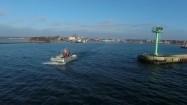 Łódź wypływająca w morze