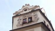 Ozdobna elewacja hotelu Aurus w Pradze