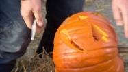 Wycinanie dyni na Halloween