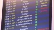 Tablica odlotów na lotnisku