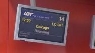 Ekran informacyjny na lotnisku