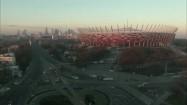 Stadion Narodowy i Rondo Waszyngtona w Warszawie