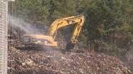 Gaszenie pożaru na wysypisku śmieci